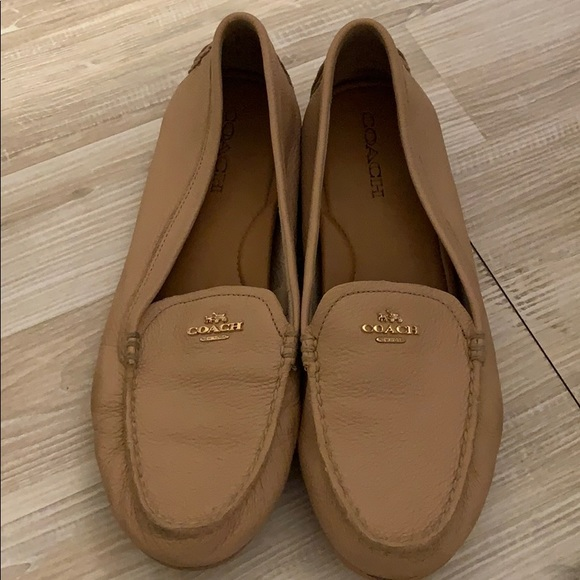 Coach Shoes   Coach Moccasins Size Nude